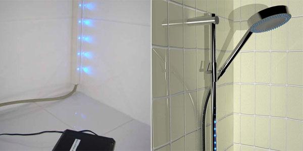 control de agua en la ducha