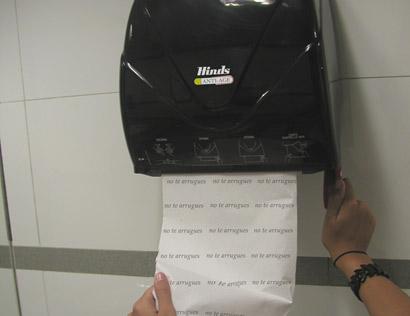 secador de manos papel