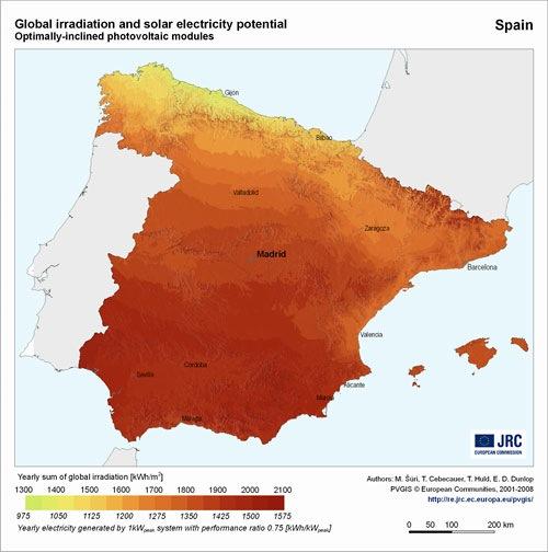 potencial solar fotovoltaico España