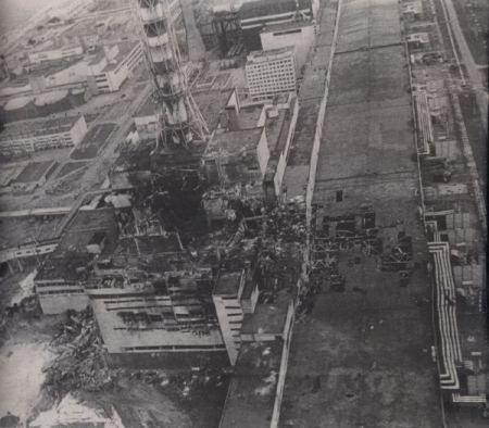vista aerea de Chernobyl