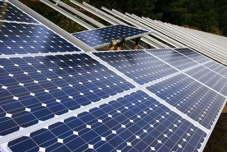 montando un panel solar