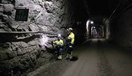 tunel en Olkiluoto almacen de residuos nucleares