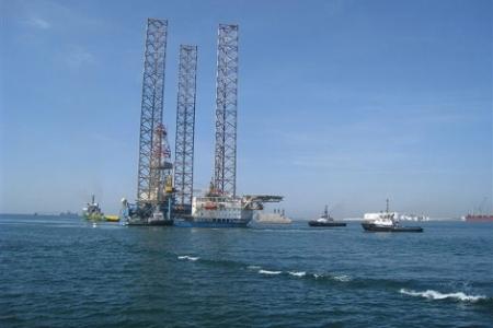 Obras del Almacen de Gas Natural El Castor