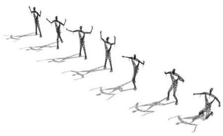 torres figuras en diferentes posiciones
