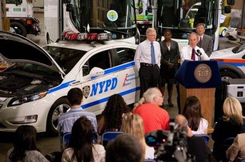 NY electric police car