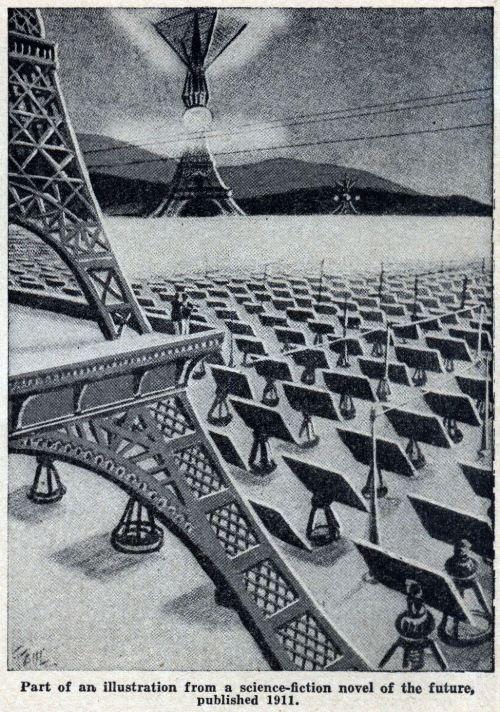 Planta termosolar esquematizada en 1911