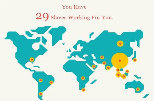 esclavos trabajando para ti