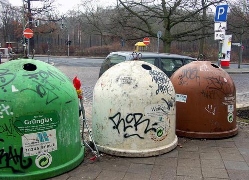 reciclaje de vidrio by kaymoshusband