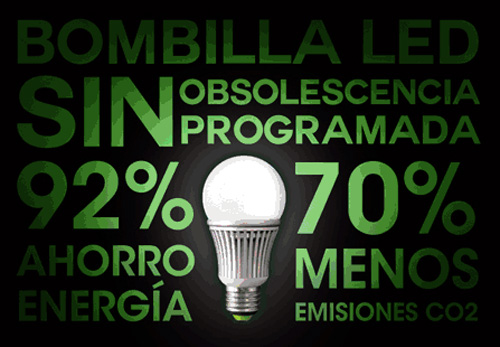 bombilla LED sin obsolescencia programada