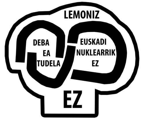 Logo antinuclear Lemóniz realizado por Txillida