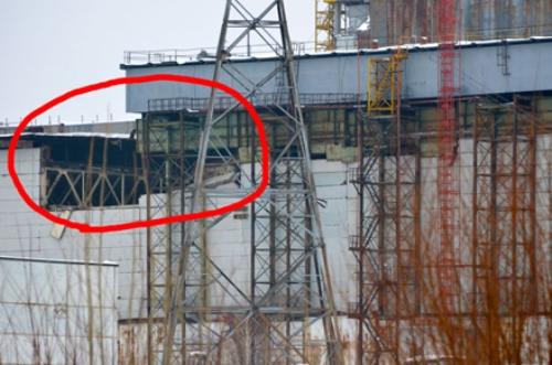 central nuclear de chernobyl, muro caido