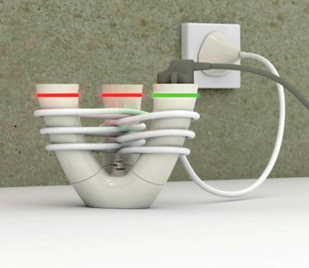 La regleta que mantiene el cable en orden desenchufados - Regleta para cables ...