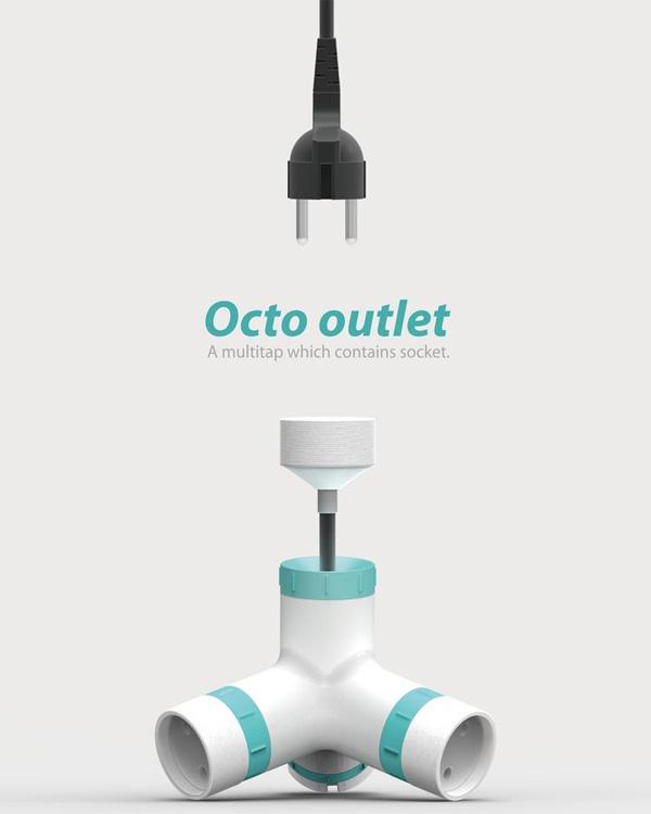 Octo, regleta y alargador para cada clavija