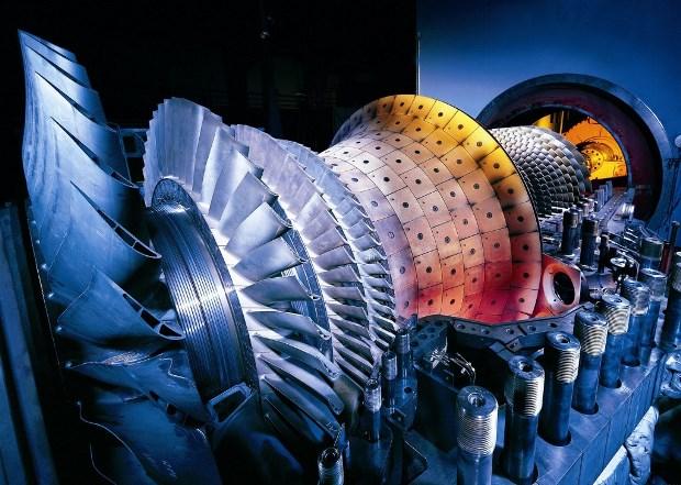 Turbina para la combustión de Gas