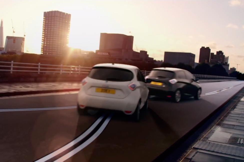 Scalextric por las calles de Londres con Renault Zoe