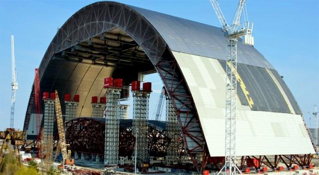 Chernobyl cupula de confinamiento 2