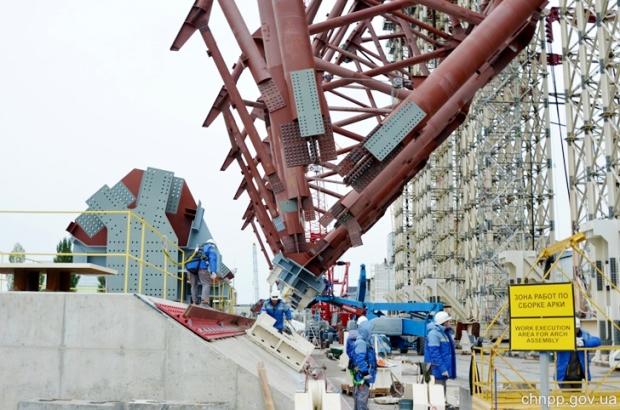 Chernobyl cupula de confinamiento 5