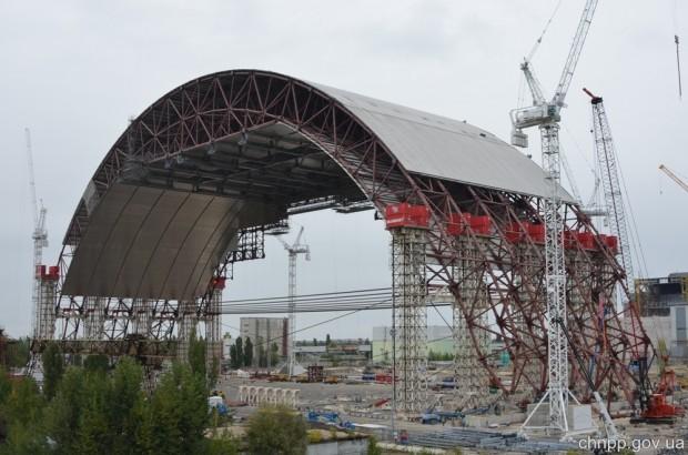 Chernobyl cupula de confinamiento 6