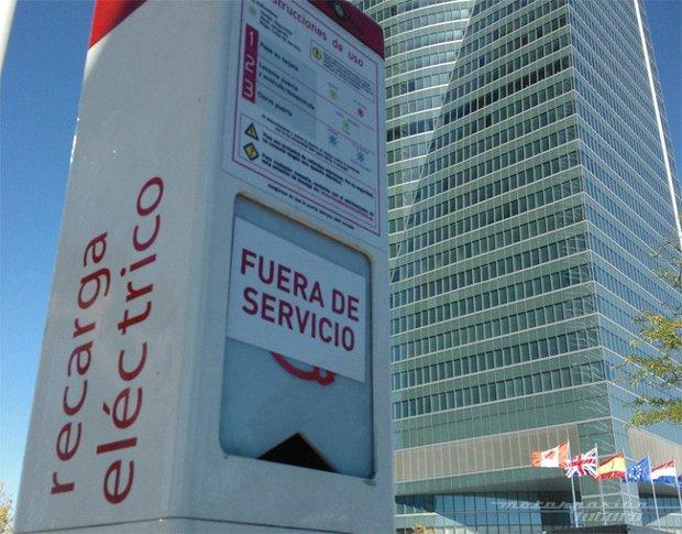 Punto de carga eléctrica en Madrid