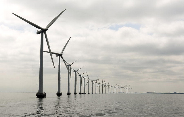 Middelgruden Offshore Wind Farm in Denmark by United Nations Photo