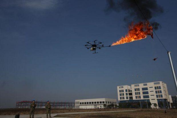 Drone lanzallamas 2