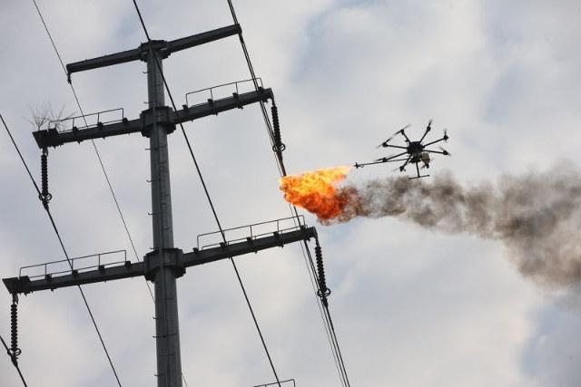 Drone lanzallamas
