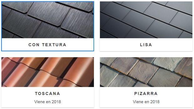 Solar roof estilos posibles