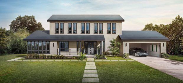 Tesla Solar Roof Teja Lisa