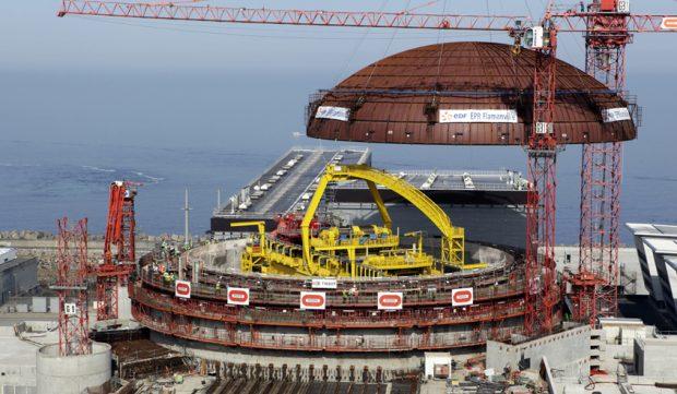 Central nuclear de Flamanville 3 en construcción