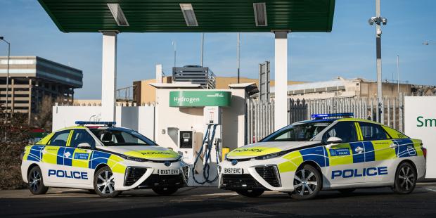Vehiculos de hidrogeno policia londres